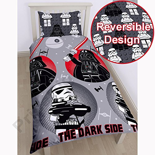 Lego Star Wars Villains Single/US Twin Duvet Cover and Pillowcase Set - Rotary Design - Villains Single