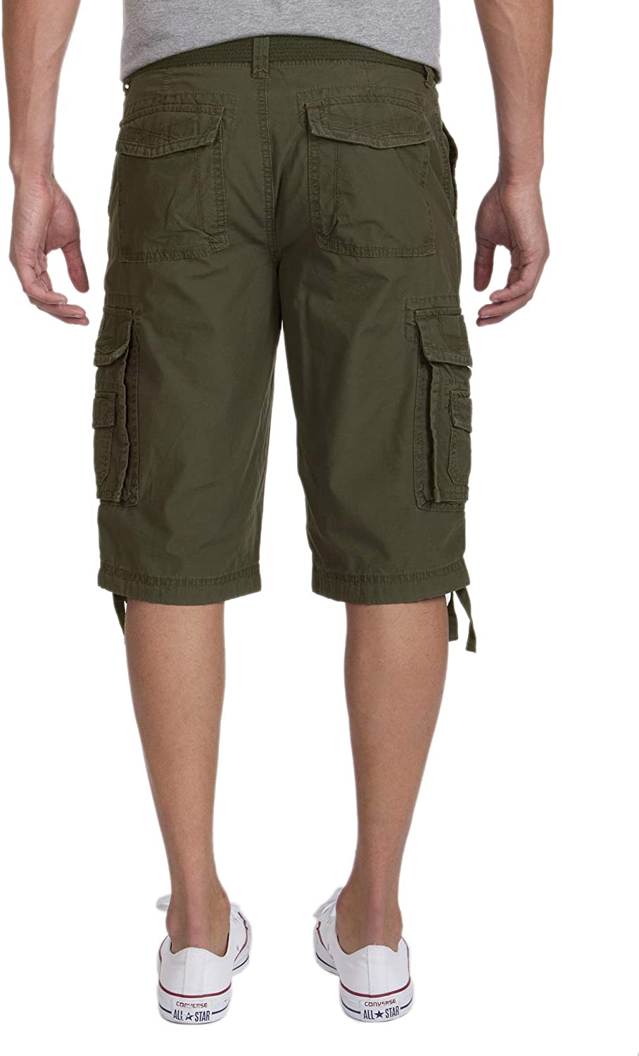 UNIONBAY Men's Cordova Belted Messenger Cargo Short - Reg and Big and Tall Sizes Military