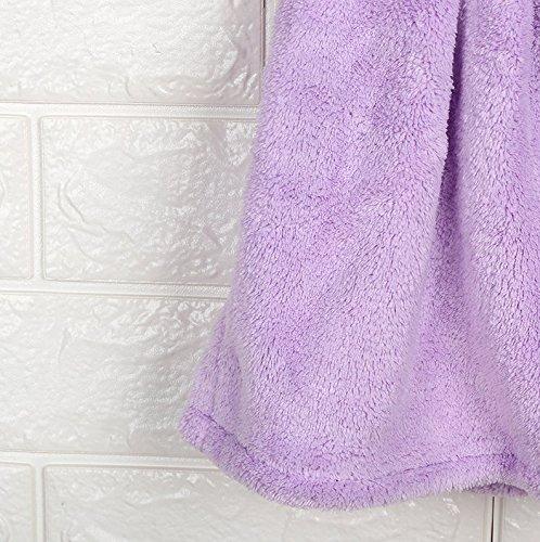 Biancheria Vestito Bambini 1pc Viola Corallo Cucina Da Per Da Bagno Assorbenti Wanyne colore Velluto Bel Viola Morbide Asciugamano qUf0fXw7