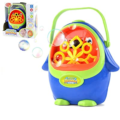 Sprite Beat Bubble Machine for Kids - Bubble Machine Kid Automatic Bubble Blower Portable Wedding Bubbles Maker Penguin Bubble Machine for Kids, Birthday Party (5 Packets Bubble Solution Included): Toys & Games