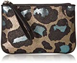 Marc by Marc Jacobs The Roxy 20 Devine Leopard Lurex Wristlet, Turquoise/Multi, One Size
