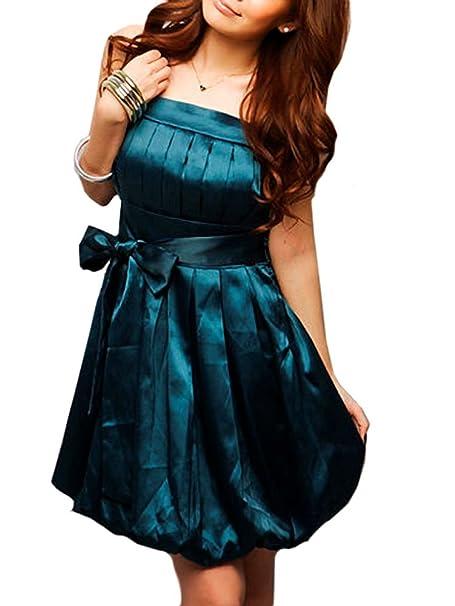 ee22eaf674c5 VIP Dress Vestito da ballo con gonna a palloncino per la laurea in blu   Amazon.it  Abbigliamento