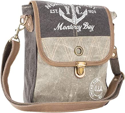 Clea Ray Recycled Green Brown Khaki Canvas