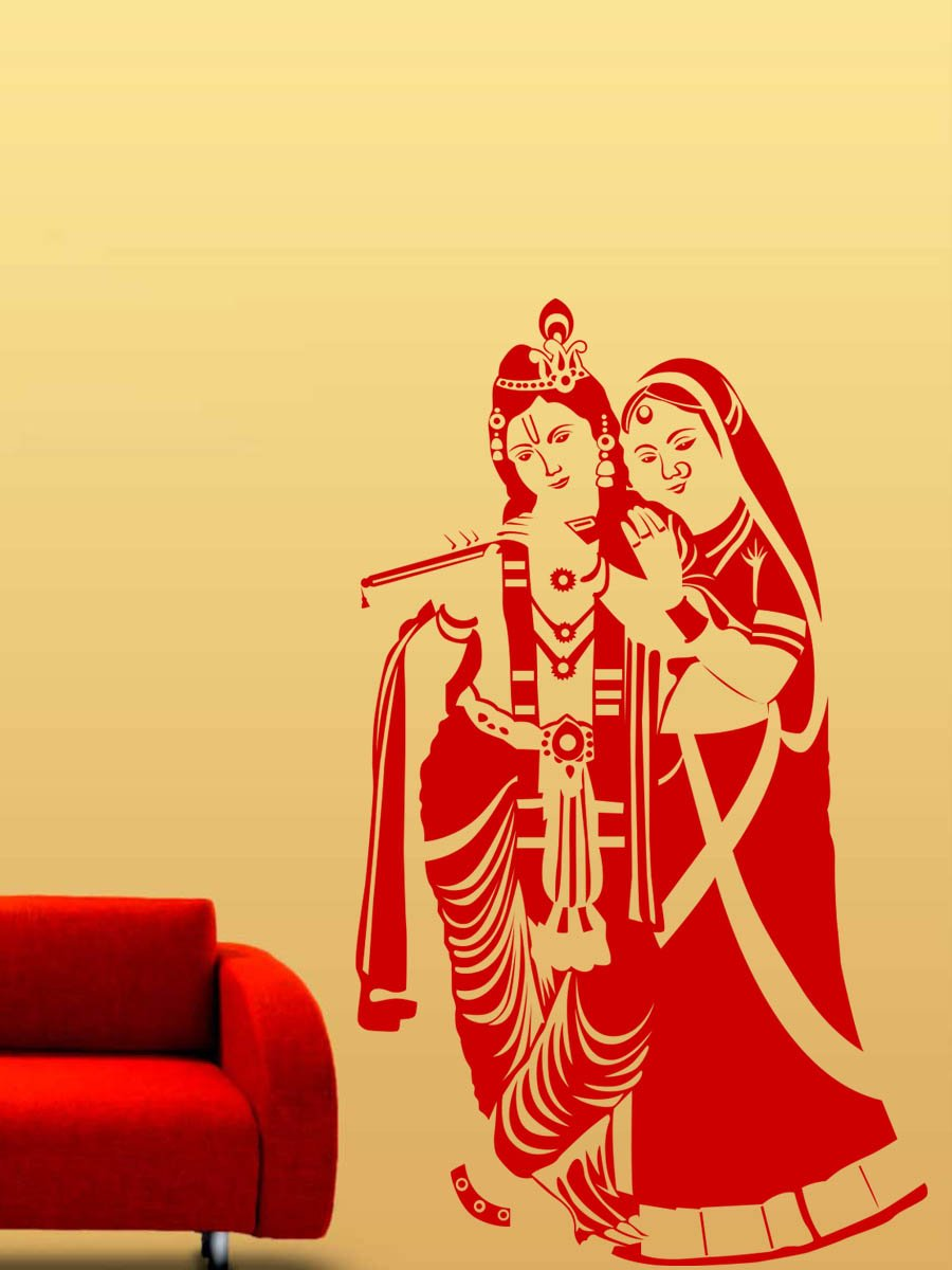 Wall stickers radha krishna - Buy Trends On Wall Radha Krishna Wall Decals 60 Cm X 102 Cm Online At Low Prices In India Amazon In