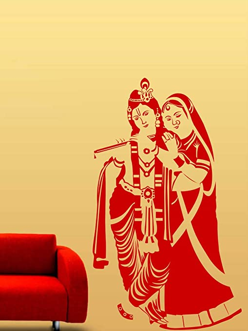 Buy Trends on Wall radha krishna wall decals (60 cm x 102 cm) Online ...
