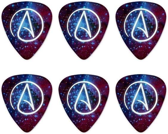 Ateo ateísmo símbolo en el espacio novedad púas de guitarra ...