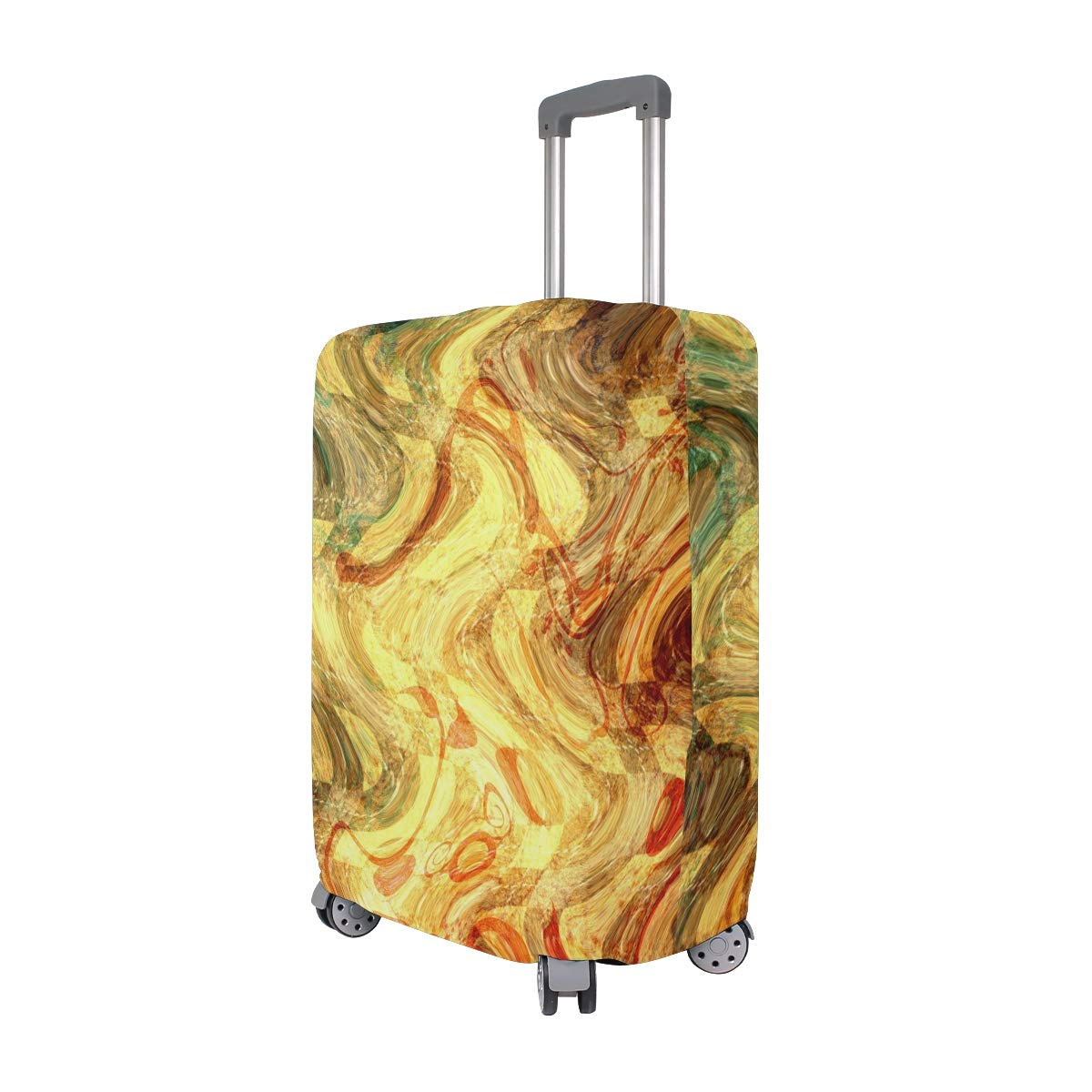 Scrapbooking Abstract Paper Texture Ripple suitcase cover elastic suitcase cover zipper luggage case removable cleaning suitable for 29-32 trunk cover