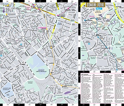 Streetwise Brussels Map - Laminated City Center Street Map of