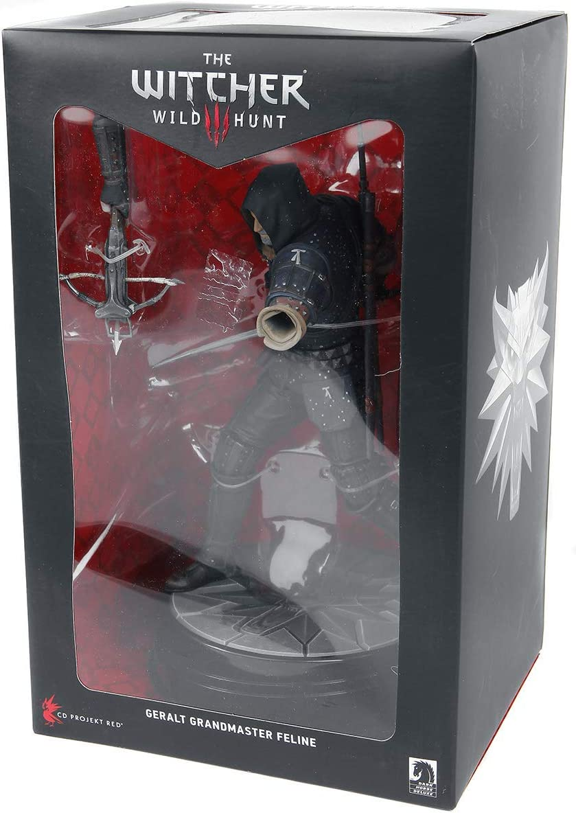 DARK HORSE THE WITCHER 3 WILD HUNT GERALT GRANDMASTER FELINE STATUE