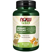 NOW Pet Health, Urinary Support Supplement, Formulated for Cats & Dogs, NASC Certified, 90 Chewable Tablets