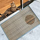 Diversity World Natural Sisal Cat Scratching Mat or Non-slip Floor Mat for In Front Door of or Outside The Door(20''x32'', multicolour)