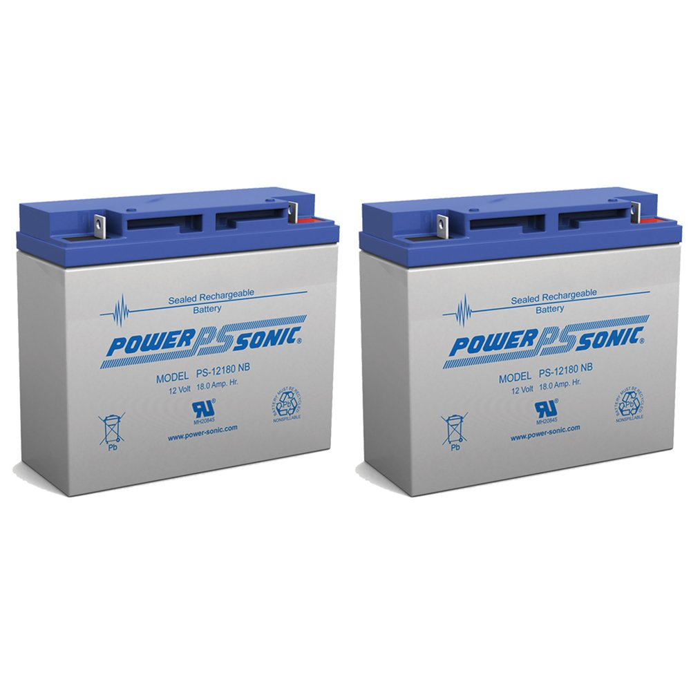 Powersonic 12V 18AH Battery Replaces Luggie Travel Scooter Wheelchair - 2 Pack by Powersonic (Image #1)