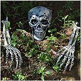 PeeNoke Realistic Looking Skeleton Stakes, Yard Lawn Stakes, Groundbreakers for Best Halloween Yard Decorations