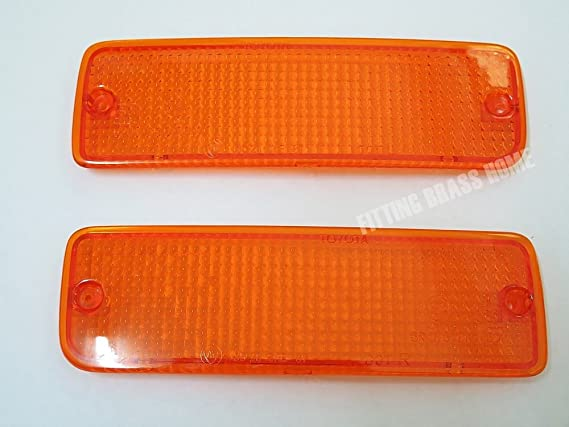 89-95 91 93 Front Bumper Lights Orange Lenses for Toyota Hilux Mighty X Ln85 Pickup Pair