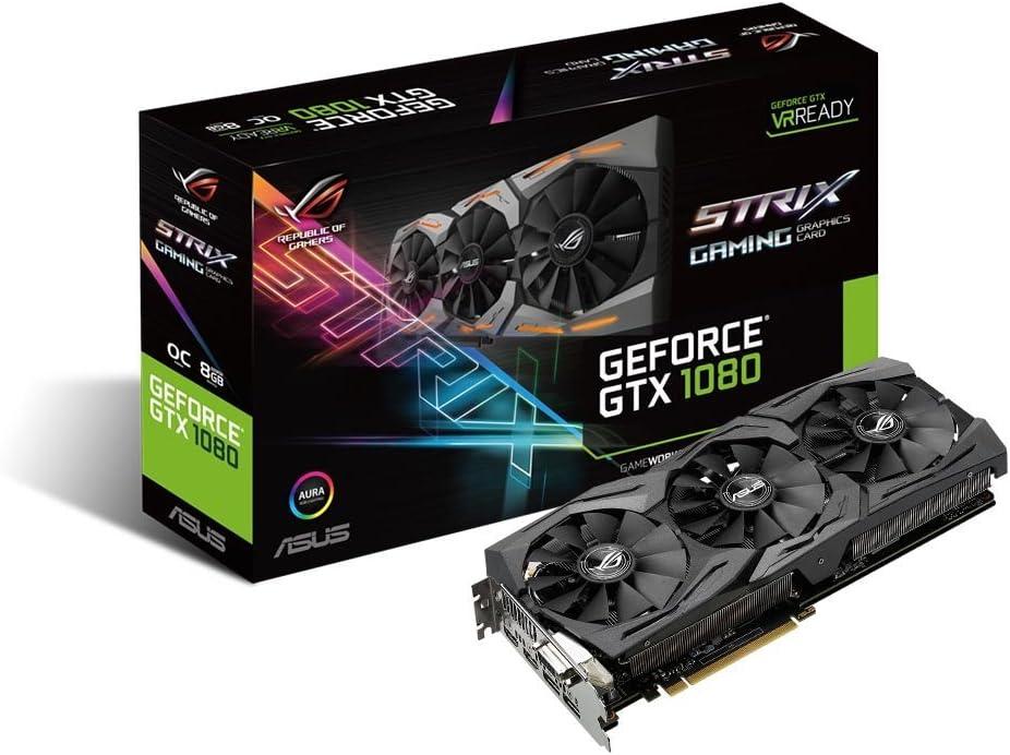 ASUS GeForce GTX 1080 8GB ROG Strix Graphics Card (STRIX-GTX1080-A8G-GAMING) (Renewed)