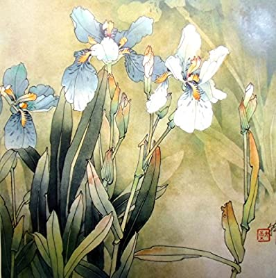 Iris_3 Oil Painting Reprodution. Based on Famous Traditional Chinese Realistic Painting. (Unframed and Unstretched).