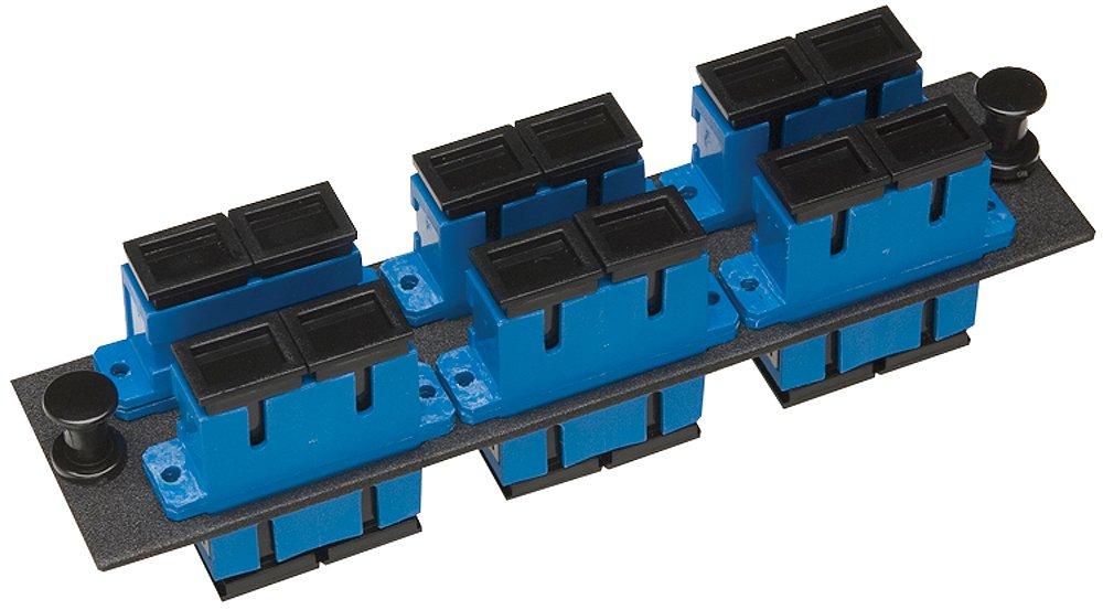 Allen Tel Products GBSC-6SMDU Single Mode Zirconium Ceramic Sleeve Fiber Optic Loaded Duplex Mounting Panel SC Adapter, 6-Pack