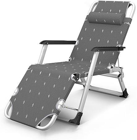 Imbottito grigio reclinabili sole reclinabile a bianco ALL/'APERTO GIARDINO IMBOTTITA SEDIA A SDRAIO LETTO