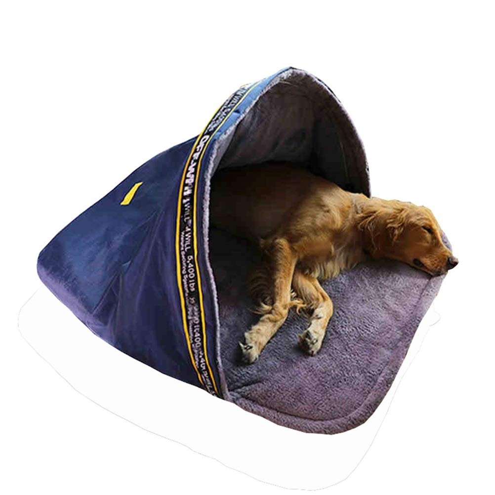 L GYR28656 Soft and comfortable Pet tent Dog house cat bed semi-closed Oxford cloth pet sleeping bag four seasons universal Pet cat dog cave (Size   L)