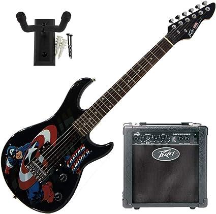 Peavey Marvel Capitán América Guitarra con 6 pulgadas Amp y ...