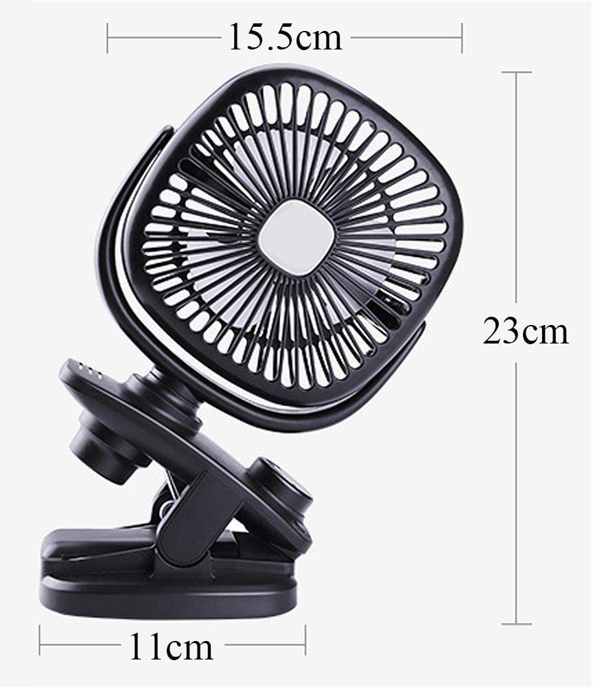 Portable USB Automatic Moving Head Clip Fan 360/° Rotation Adjustable Desktop Mute for Baby Stroller Office Outdoor Gifts