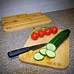 Bamboo Chopping Board Set 3 Pack