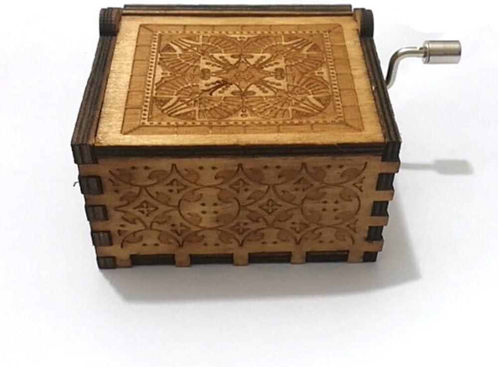 XIN-JI Caja de música de Madera Tallada Antigua Artesanía Musical ...