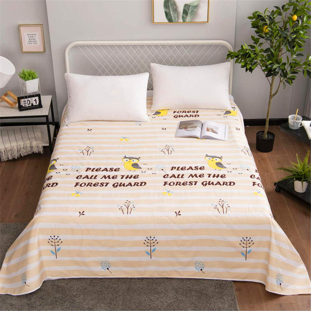 Aloe Vera Cotton Single Student Dormitory Single Bed Double Bed Simple Style Design Sweat-Absorbent Breathable Soft and Comfortable Skin-Friendly Meng Ying 200230cm by iangbaoyo