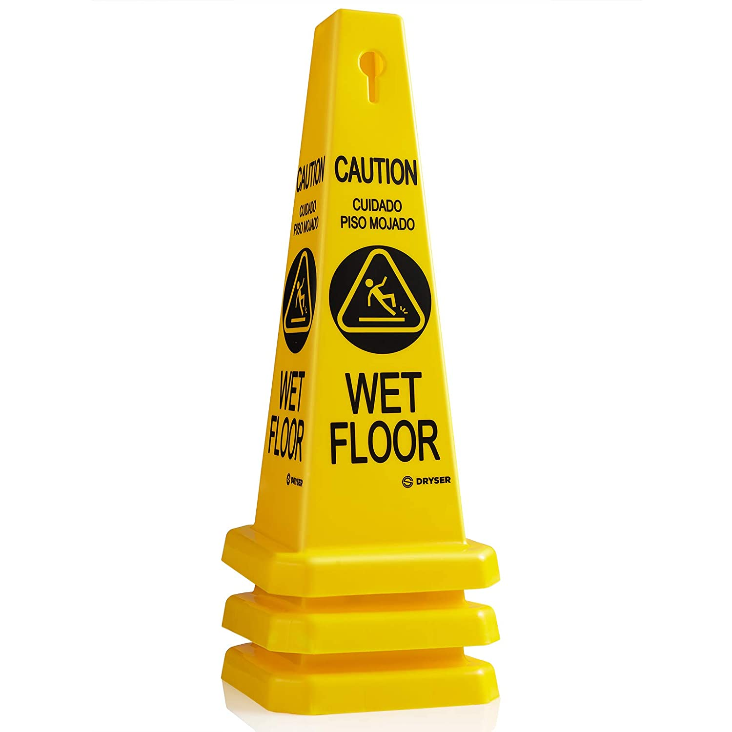 """48 6 Pack Commercial Caution Wet Floor Yellow Cone 27/"""" Only"""