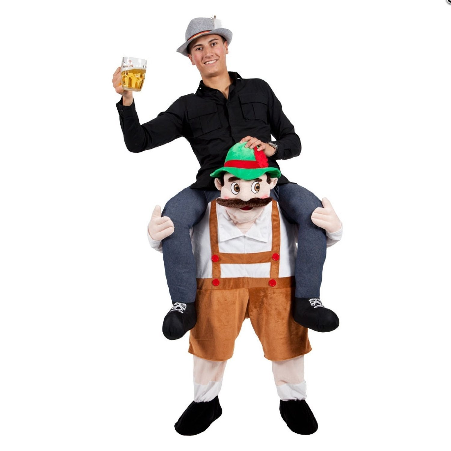 Oisk Beer Guy Ride on Santa Mascot Costume Oktoberfest Piggyback Fancy Dress