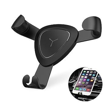 VOOKI Soporte Movil Coche Montaje en Rejillas de Ventilación, Soporte Universal Teléfono Automático Ajustable por