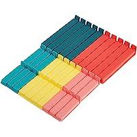 Ikea Bávara Cierre Horquillas, Multicolor, 16x12x3 cm, 30 Unidades