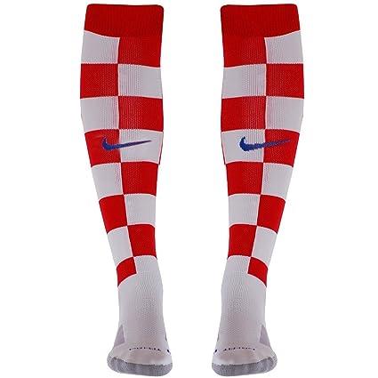 Nike CRO HM Stadium Sock - Calcetines de fútbol Unisex, Color Rojo/Blanco /