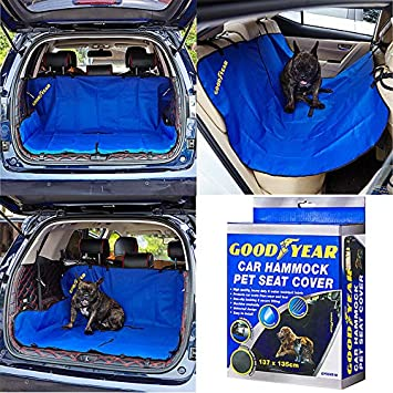 Goodyear Waterproof Car Boot Mat Protector Floor Liner for Pets Dogs Seat