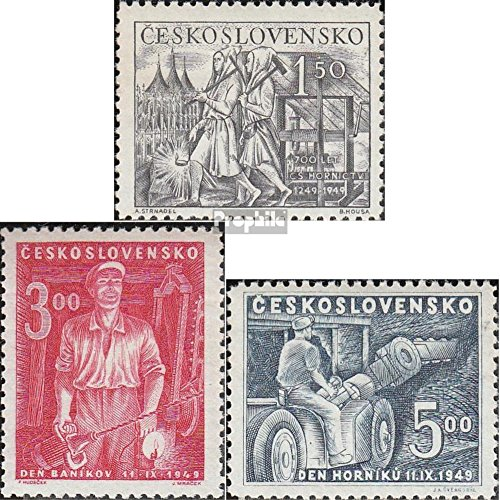 Czechoslovakia 594-596 (complete.issue.) unmounted mint / never hinged 1949 Mining (Stamps for collectors) (594 Mint)