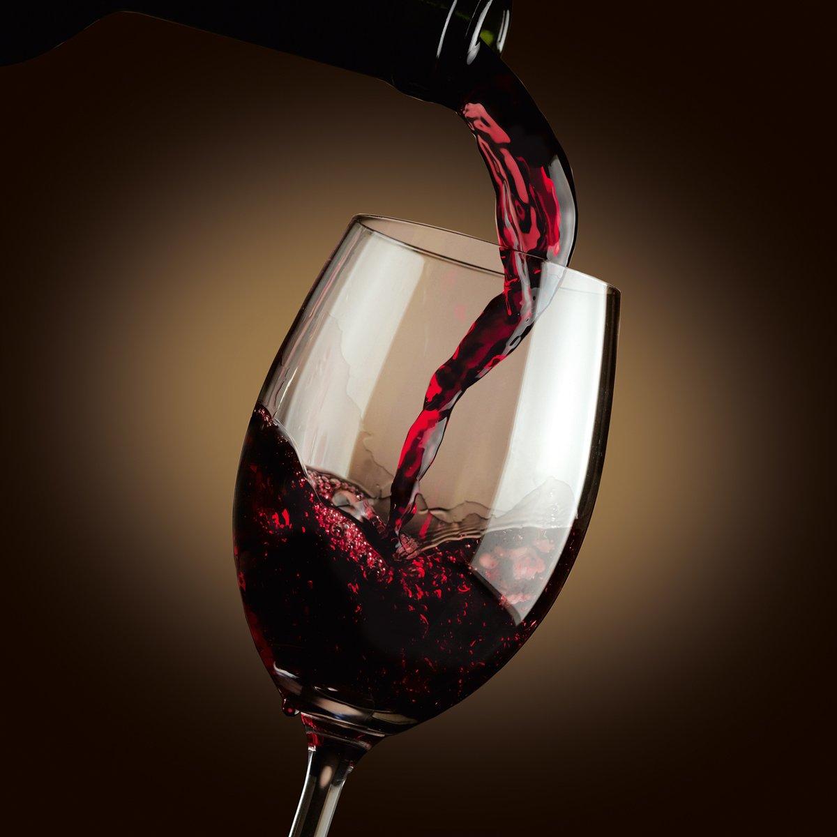 Glas 30x30x2 cm Eurographics Dark Flowing Red Wine 30x30 DecoGlass