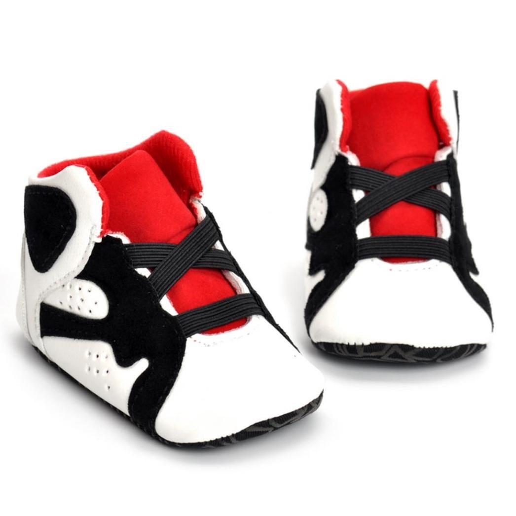 QinMM Neugeborene Baby Turnschuh Schuhe, Neugeborene Säuglingskind Mädchen Jungen Krippe Schuhe Weiche alleinige Anti-Rutsch Baby Turnschuh Schuhe 0-18 Monate 12