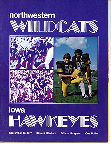 Northwestern Wildcats vs Iowa Hawkeyes College Football Program- 9/10/1977 - Northwestern Iowa Football