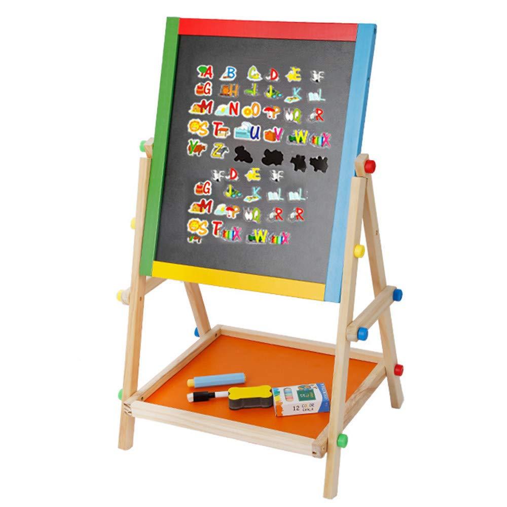Cavalletto per bambini Kids Wooden Standing Art cavalletto Consiglio 2 in 1 Double Sided Cavalletto Lavagna lavagna Chalk Board Tavolo da disegno Bambini Bordo di apprendimento Giocattoli educativi pe