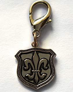 product image for Diva-Dog 'Fleur de Lis Shield' Dog Collar Charm