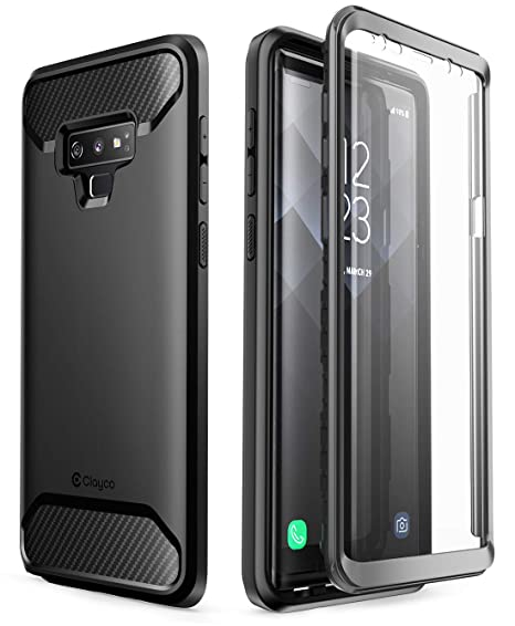 innovative design 1c68e 760f4 Samsung Galaxy Note 9 Case, Clayco [Xenon Series] Full-Body Rugged Case  with Built-in 3D Curved Screen Protector for Samsung Galaxy Note 9 (2018 ...