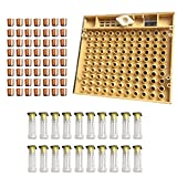 SODIAL Beekeeping Tools Equipment Set Queen Rearing System Cultivating Box 110pcs Plastic Bee Cell Cups Cup kit Queen Cage