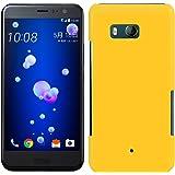 「Breeze-正規品」iPhone ・ スマホケース ポリカーボネイト [Yellow] HTC U11 エイチティーシー ユーイレブン HTV33カバー 液晶保護フィルム付 全機種対応 [HTV33]