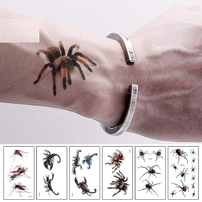 Tatuaje Temporal,Cuerpo De Transferencia Pegatinas 6 Hojas 3D ...