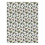 Polyester Rectangular Tablecloth,Mexican,Traditional Religious Day of the Dead Inspired Sugar Skulls with Colorful Flowers,Multicolor,Dining Room Kitchen Picnic Table Cloth Cover,for Outdoor Indoor