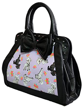 09ad418ef6f6 Iron Fist LAMB CHOP BOW SMALL Purse BAG Ladies 50s Rockabilly Vintage  Handbag  Amazon.co.uk  Clothing