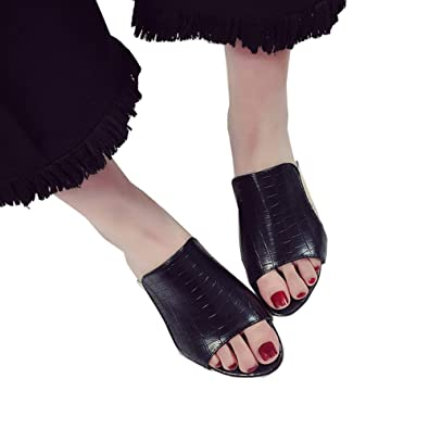 Cystyle 2017 Damen High Heels Bunt Strass Transparent Schuhabsatz Sandalen mit Absatz (EU 40=ASIA 41, Schwarz)