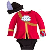 Disney Store Captain Hook Baby Boys Costume Outfit & Hat (6-9M)
