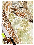 KESS InHouse Wildlife ''Africa 2'' Brown Animals Cutting Board, 11.5 x 15.75'', Multicolor