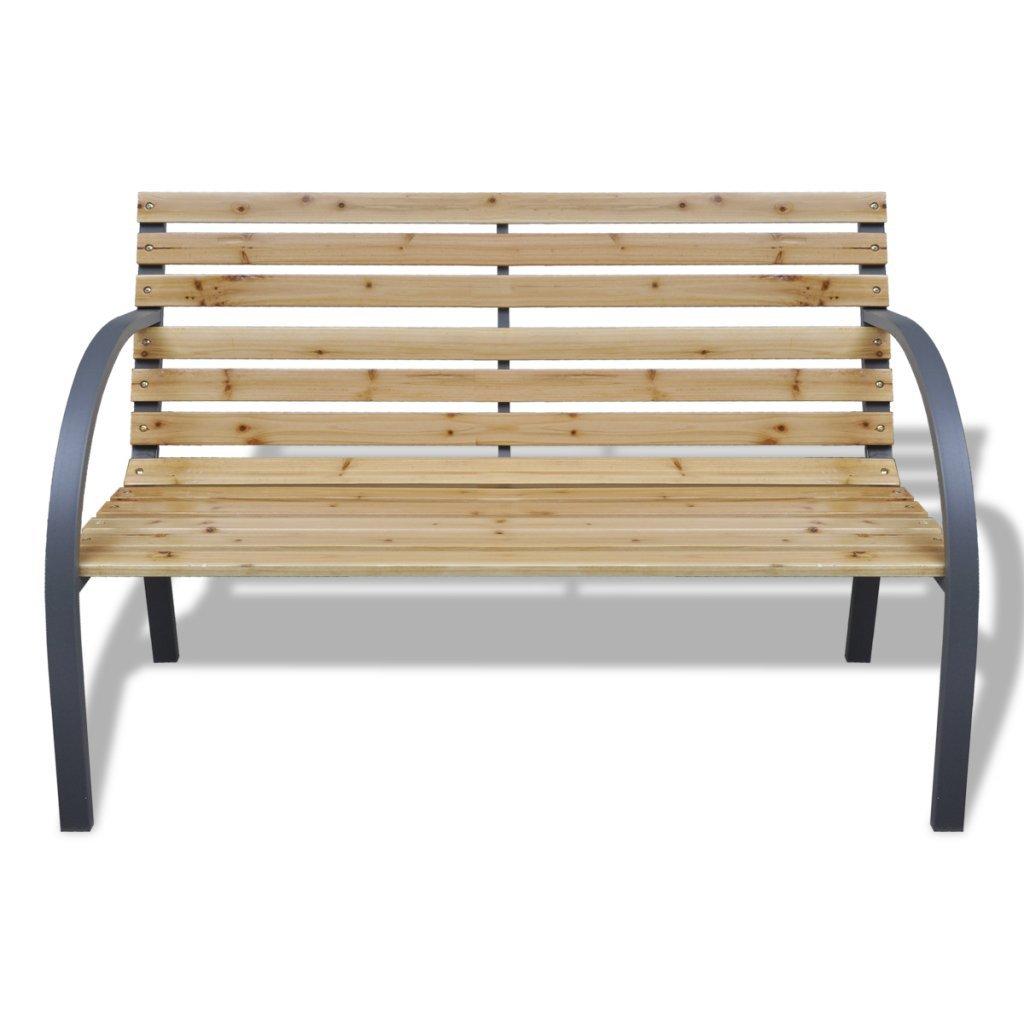 vidaXL Iron Frame Garden Bench Yard Bench Seat Outdoor Seating Patio ...